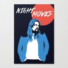 NIGHT MOVES: BOB SEGER Canvas Print