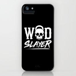 WOD Slay er Skull iPhone Case