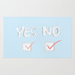 Yes No Rug