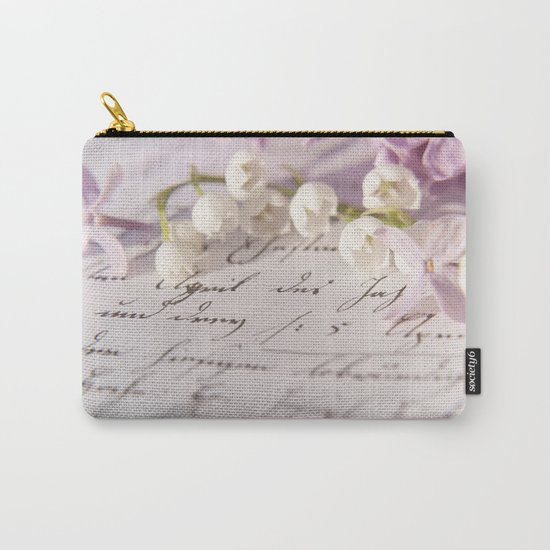 Loveletter - Springflower and old letter - Photography Carry-All Pouch