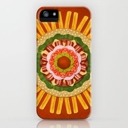 Bacon Cheeseburger with Fries Mandala iPhone Case