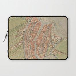 Vintage map of Amsterdam (1560) Laptop Sleeve
