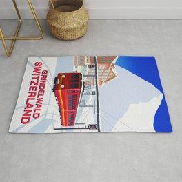 Grindelwald Ski Poster Rug
