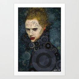 RITRATTO in blu Art Print