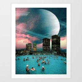 Evening Swim Art Print