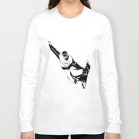 snowboarding Long Sleeve T-shirts featuring Snowboarding Design by Cwilwol