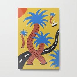 Palmy Road Trippin' Metal Print