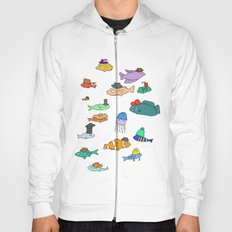 Fish with hats Hoody