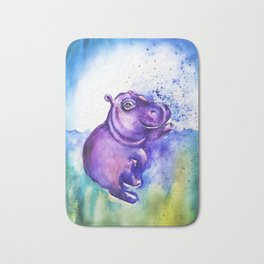 Fiona the Hippo - Splashing around Bath Mat