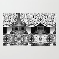 buildings Area & Throw Rugs featuring Buildings by Spew Jersey