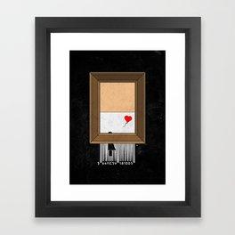 Banksy shredding Framed Art Print