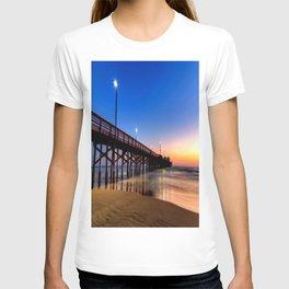 Lighted Beach Pier  Sunset 🌅 T-shirt