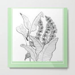 garden ink Metal Print