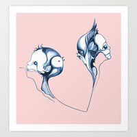 fig Art Prints featuring fig by schleuf