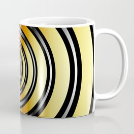 Concentric metallic rings in gold and silver-metallic texture artwork Coffee Mug