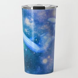 Blue Galaxy Woman : Nude Art Travel Mug