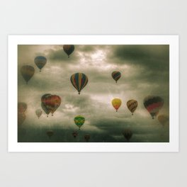 Balloon Caravan Art Print