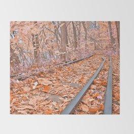 Abandoned Susquehanna Railroad - Fantasy Express Throw Blanket