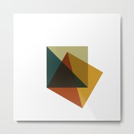 #378 Flag of failure – Geometry Daily Metal Print
