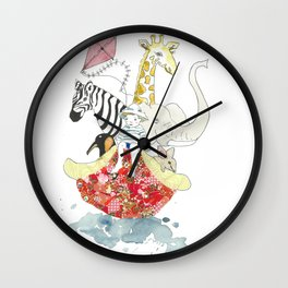 A Patchwork Adventure Wall Clock