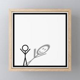 Stickman Framed Mini Art Print