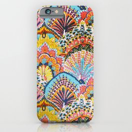 Vintage Japanese Colorful Peacock Pattern iPhone Case