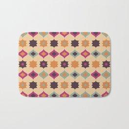 Seamless retro pattern geometrical vector texture background Bath Mat