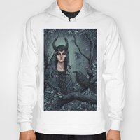 maleficent Hoodies featuring Maleficent by Angela Rizza