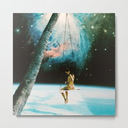 Hanging Out In Space Metal Print
