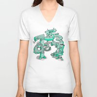 numbers V-neck T-shirts featuring Odd Numbers by Nick Volkert