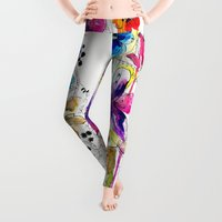 lost Leggings featuring Lost by Holly Sharpe