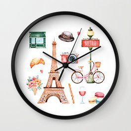 Welcome To Paris Wall Clock