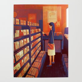 record shop Poster