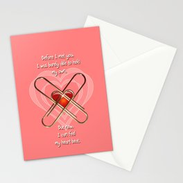 Clip Heart Valentine Stationery Cards