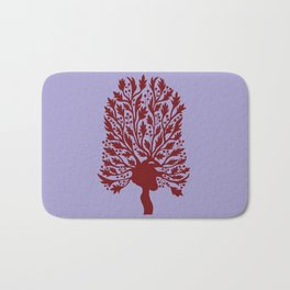 Heart Hawthorn Tree Bath Mat
