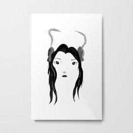 Demon Girl V2 Metal Print