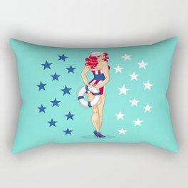 Independence Girl Rectangular Pillow