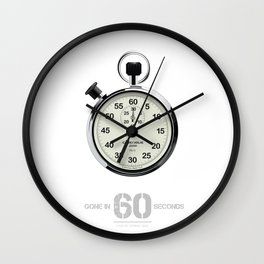 Gone in 60 Seconds - Alternative Movie Poster Wall Clock