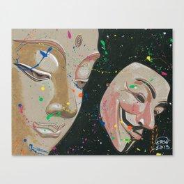 Buddha Fawkes Canvas Print