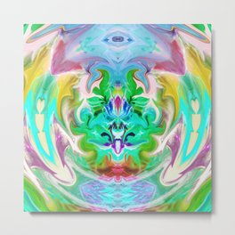 343 - Abstract Colour Design Metal Print