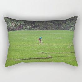 Rice Paddies in Kho Muong, Vietnam Rectangular Pillow