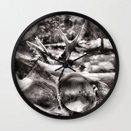 Deer Skull Wall Clock