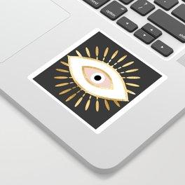 gold foil evil eye in blush Sticker