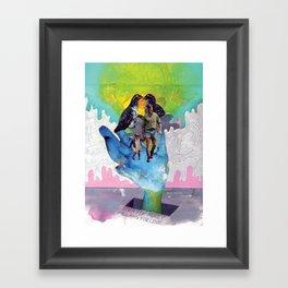 Never for Money Always for Love Framed Art Print