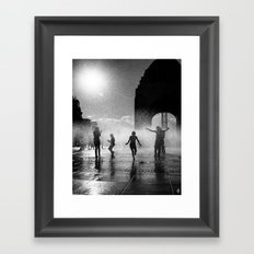 Concrete Beach Series (6) Framed Art Print