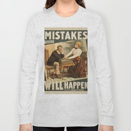 Vintage poster - Mistakes Will Happen Long Sleeve T-shirt