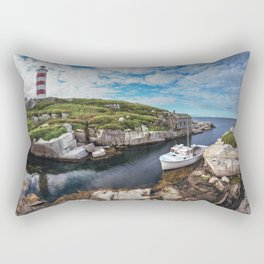 Moored at the Lighthouse Rectangular Pillow