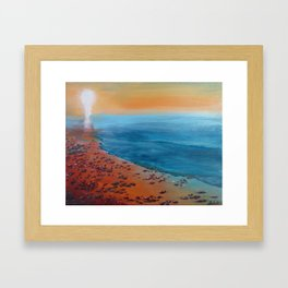 It was unusually warm for December Framed Art Print