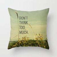 michigan Throw Pillows featuring Travel Like A Bird Without a Care by Olivia Joy StClaire