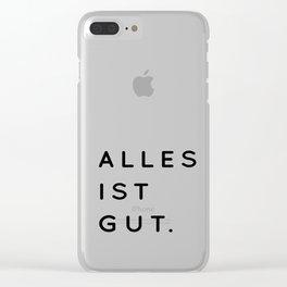 Alles ist Gut   Typography Minimalist Version Clear iPhone Case